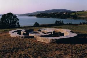 Sjoerd Buisman, Phyllotaxis-Irrsee, 1999, Mondsee Land Art